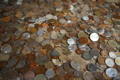 Money concept - bunch of international coins Stock Photography