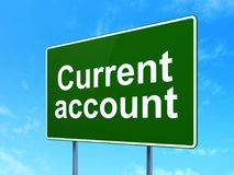 Money concept: Current Account on road sign background Stock Image
