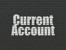 Money concept: Current Account on wall background Stock Photo