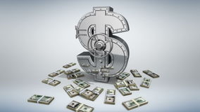Money concept 3D stock video footage