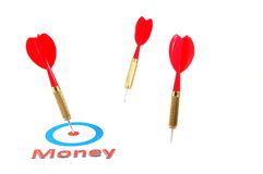 Money concept with dart arrow Stock Photography