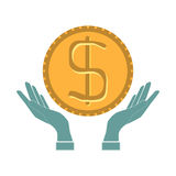 Money concept design. Hands, vector illustration Stock Photo