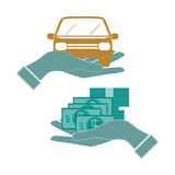 Money concept design. Hands, vector illustration Stock Image