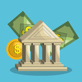 Money concept design. Illustration eps10 graphic Royalty Free Stock Images