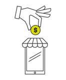 Money concept design. Illustration eps10 graphic Stock Images