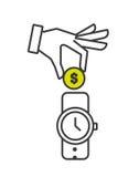 Money concept design. Illustration eps10 graphic Royalty Free Stock Photo