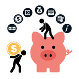 Money concept. Design, vector illustration eps10 graphic Royalty Free Stock Images