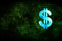 Money concept: Dollar on digital background Royalty Free Stock Images