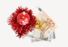 Money concept with euro banknotes Royalty Free Stock Photos