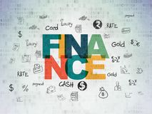 Money concept: Finance on Digital Data Paper background Royalty Free Stock Photos