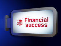 Money concept: Financial Success and Money Box on billboard background. Money concept: Financial Success and Money Box on advertising billboard background, 3D Stock Photography