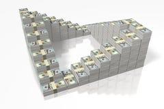 Money concept - hundred dollar bills Stock Image