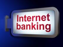 Money concept: Internet Banking on billboard background. Money concept: Internet Banking on advertising billboard background, 3D rendering Stock Photography