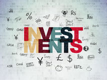 Money concept: Investments on Digital Paper Royalty Free Stock Images