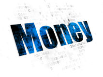 Money concept: Money on Digital background Stock Photography