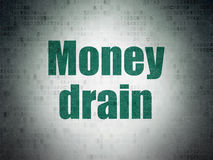 Money concept: Money Drain on Digital Data Paper background Royalty Free Stock Photo
