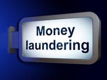 Money concept: Money Laundering on billboard background Royalty Free Stock Photos