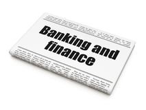 Money concept: newspaper headline Banking And Finance Royalty Free Stock Photo