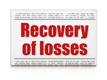 Money concept: newspaper headline Recovery Of losses. On White background, 3D rendering Royalty Free Stock Image