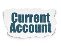 Money concept: Current Account on Torn Paper background Stock Images