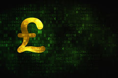 Money concept: Pound on digital background Royalty Free Stock Photo
