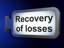 Money concept: Recovery Of losses on billboard background. Money concept: Recovery Of losses on advertising billboard background, 3D rendering Royalty Free Stock Images