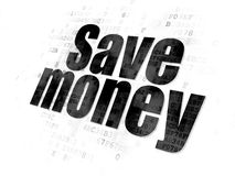 Money concept: Save Money on Digital background Royalty Free Stock Image
