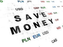 Money concept: Save Money on Digital background Royalty Free Stock Images