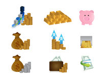 Money concept set icon set illustration design Stock Images