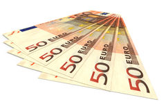 Money concept - several euro banknotes Stock Images