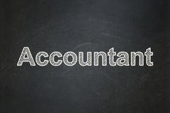 Money concept: Accountant on chalkboard background. Money concept: text Accountant on Black chalkboard background Stock Images