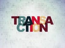 Money concept: Transaction on Digital Data Paper background. Money concept: Painted multicolor text Transaction on Digital Data Paper background Stock Images