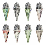 Money cone banknotes Stock Image