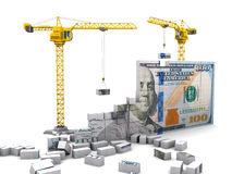 Money construction Stock Images
