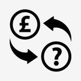Money convert icon. Pound. Flat design style Royalty Free Stock Images