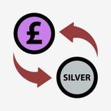 Money convert icon. Pound. Flat design style Royalty Free Stock Photography
