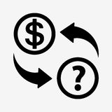 Money convert icon. USD. Flat design style Royalty Free Stock Photography