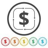 Money convert icon royalty free illustration