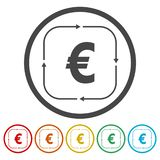 Money convert icon stock illustration