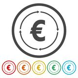 Money convert icon. Vecyor icon vector illustration