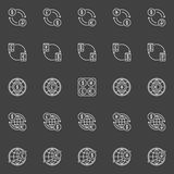 Money convert vector icons Royalty Free Stock Images