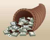 Money Cornucopia Stock Image