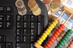 Money-counter Stock Photo