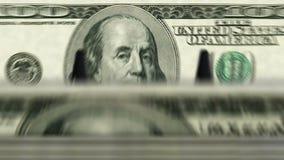 Money counting machine – 100 Dollar stock video