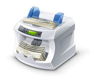 Money Counting Machine Royalty Free Stock Image