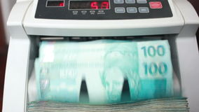 Money Counting Machine stock video