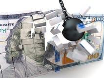 Money crash Stock Images