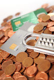Money and credit card Royalty Free Stock Images