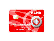 Money credit card and lock. Royalty Free Stock Images
