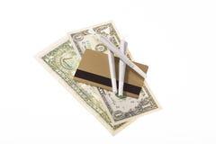 Money, credit card, marijuana unhealthy life stile Stock Images